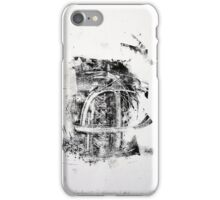 Contraintes et Abandon #2 - Monotype on Wenzhou Paper + pieces of paper sewn iPhone Case/Skin