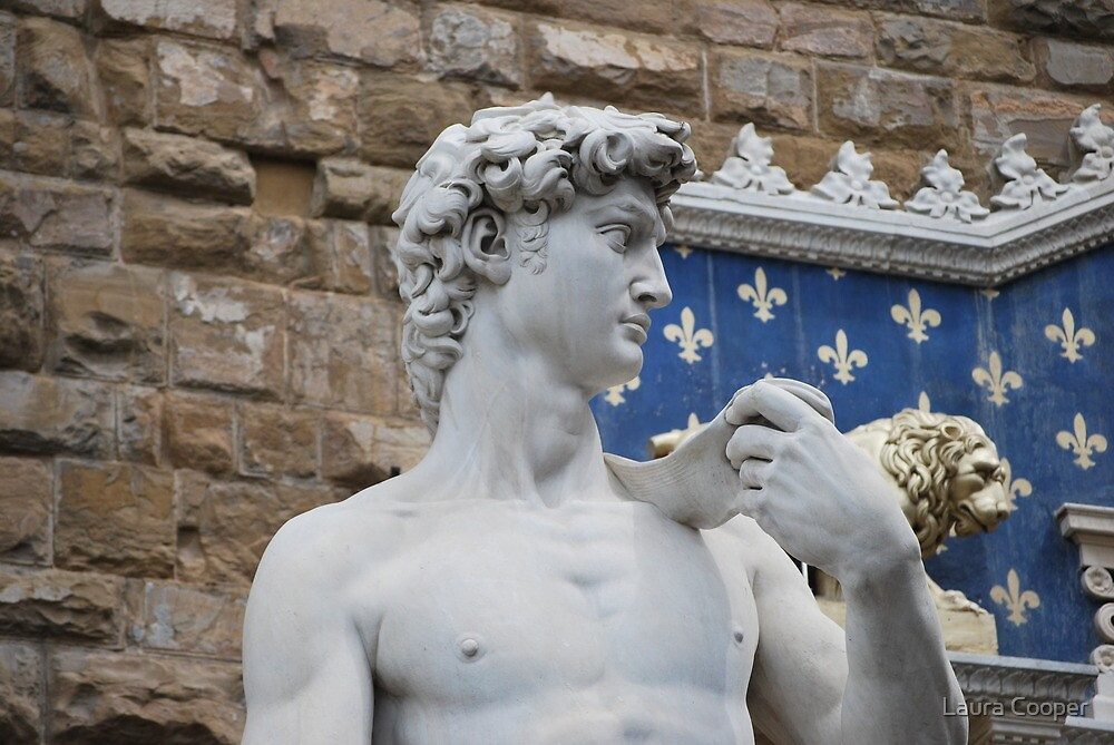Statue of David in Florence, Italy by Laura Cooper