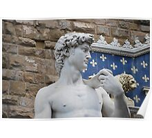 Statue of David in Florence, Italy Poster