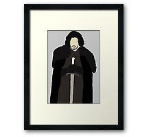 Jon Snow with sword Framed Print