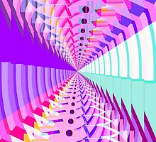 Abstract / Psychedelic Radial Pattern by bradyarnold