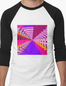 Abstract / Psychedelic Radial Pattern Men's Baseball ¾ T-Shirt