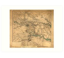 Civil War Map of Richmond and Petersburgh (1864) Art Print
