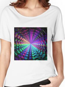 Abstract / Psychedelic Radial Pattern Women's Relaxed Fit T-Shirt
