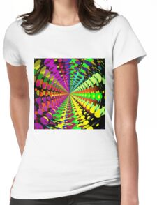 Abstract / Psychedelic Radial Pattern Womens Fitted T-Shirt