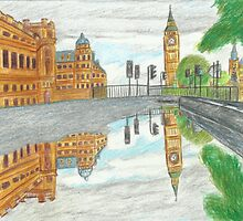 London in a Puddle by Kyleacharisse