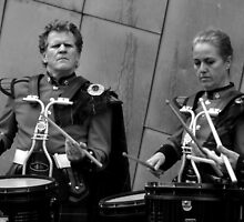Scottish Drummers 3 by Andrew  Makowiecki