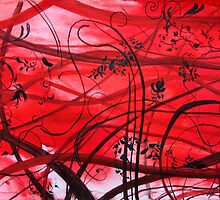 Lines in red mood by roman480