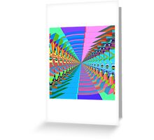 Abstract / Psychedelic Tunnel of Colorful Shapes Greeting Card