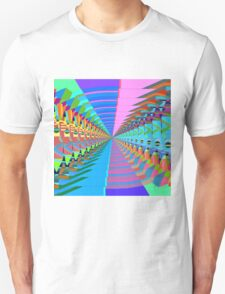 Abstract / Psychedelic Tunnel of Colorful Shapes Unisex T-Shirt