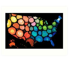 United States of America Map 2 - Colorful USA Art Print