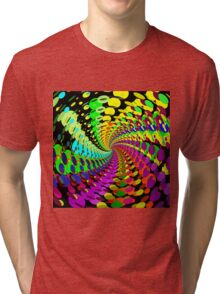 Abstract / Psychedelic Spiral Pattern Tri-blend T-Shirt