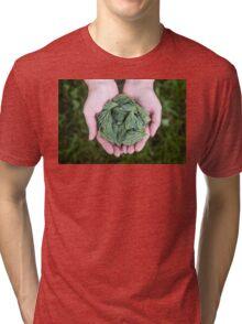 Pine Green, Spine Clean Tri-blend T-Shirt