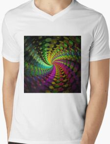 Abstract / Psychedelic Spiral Pattern Mens V-Neck T-Shirt