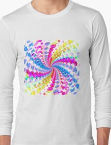 Abstract / Psychedelic Spiral Pattern Long Sleeve T-Shirt