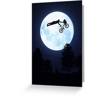 Riding the Kuwahara BMX. Like A Boss! Greeting Card