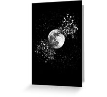 Moon Explosion Greeting Card