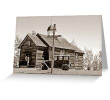 St. Nicholas Russo-Greek Orthodox Church - Ukrainian Cultural & Heritage Village, Alberta, Canada Greeting Card