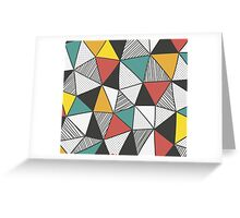 Abstract Triangle Pattern Greeting Card