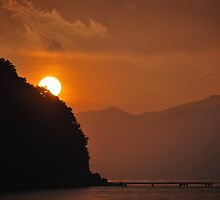 Early Morning Sunrise in Corfu, Greece by Laura Cooper
