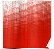 Red Abstract 3D Construct Poster