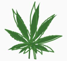 Abstract Cannabis Leaf by MarijuanaTshirt