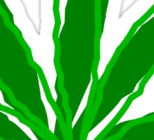 Abstract Cannabis Leaf Sticker