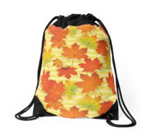 Autumn Colorful Maple Leaves Drawstring Bag