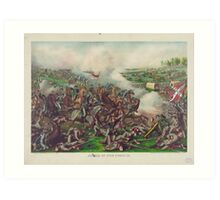 Battle of Five Forks Charge of Gen Sheridan April 1st 1865 Art Print