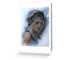 girl with black headband Greeting Card