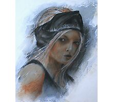 girl with black headband Photographic Print