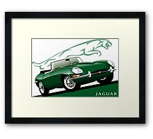 E-Type Jaguar Series 1 Roadster BRG Framed Print