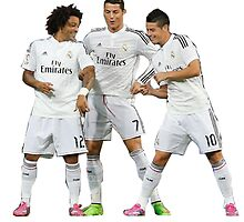 marcelo and cristiano ronaldo and james by makelele888