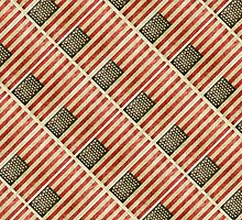 Vintage american flag pattern by DFLC Prints