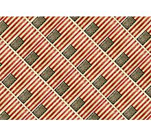 Vintage american flag pattern Photographic Print