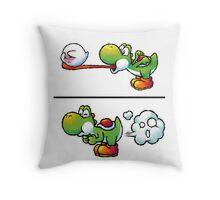 Farting Yoshi Throw Pillow