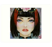 China Girl with Eyes of Blue Art Print