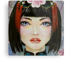 China Girl with Eyes of Blue Metal Print