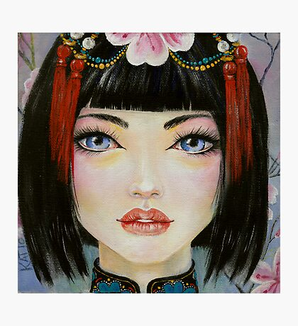 China Girl with Eyes of Blue Photographic Print