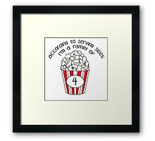 Serving Sizes Framed Print