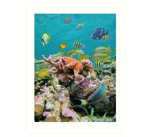 underwater sea life colors Art Print