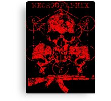 Skulls & Guns Canvas Print