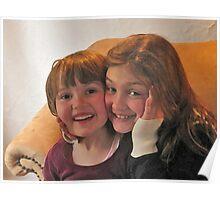 Little girls, big smiles Poster