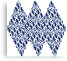 Blue Crystals Pattern Trio Canvas Print