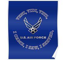 USAF LOGO VVV SHIELD Poster