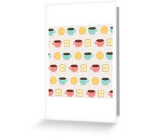 Coffee and Toast Pattern Greeting Card