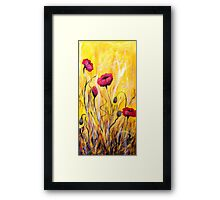 For The Love Of Poppies Framed Print