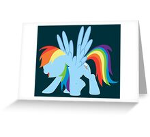 Rainbow Dash - Minimalist Greeting Card