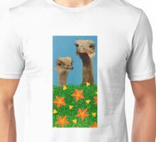 Peeping Ostriches  Unisex T-Shirt