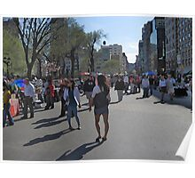 Easter Sunday in Union Square Poster